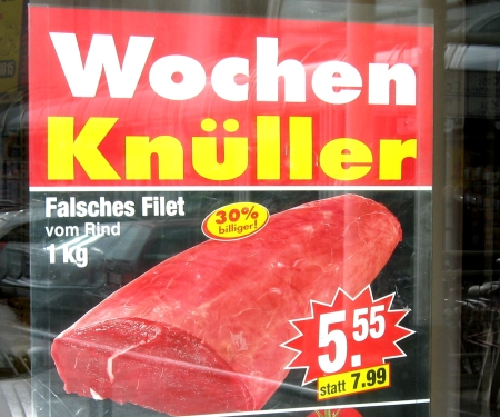 Falsches Rinderfilet
