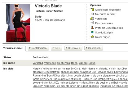 Victoria Blade bei XING