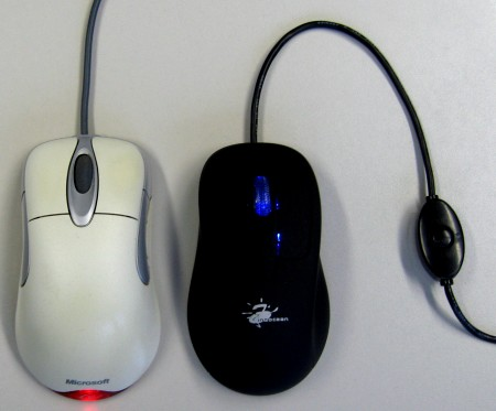 Beheizte Maus Starter und Microsoft Intellimouse optical